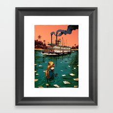 Blowing in the Water Framed Art Print