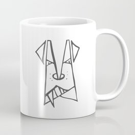 Black dog Coffee Mug