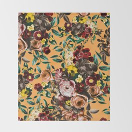 floral ambiance Throw Blanket