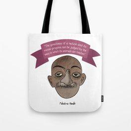 Mahatma Gandhi quote Tote Bag