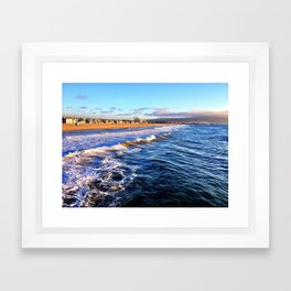 "Hermosa Beach ""On the Pier 2"" Framed Art Print"