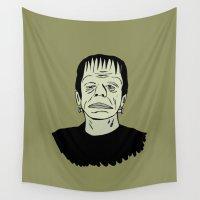 frankenstein Wall Tapestries featuring Frankenstein icon by Logan_J