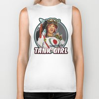 tank girl Biker Tanks featuring Tank Girl by the Artisan Rogue