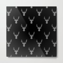 Mini Deer Pattern Metal Print