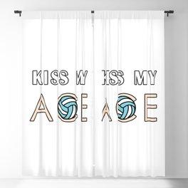 Kiss my ace Blackout Curtain