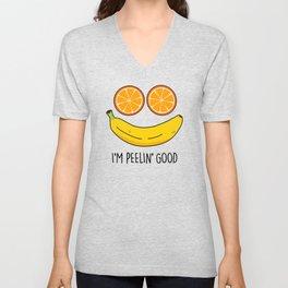 I'm Peelin Good Cute Fruit Pun Unisex V-Neck