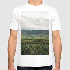 Waianae Valley White MEDIUM Mens Fitted Tee