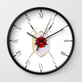 Lancastrian Shield Wall Clock