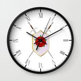 Lancastrian Shield Wall Clock