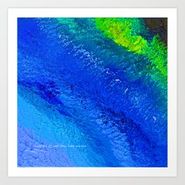 """Riptide #4"" Oil Painting Art Print"