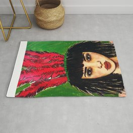 GIRL ALMIGHTY PAINTING Rug