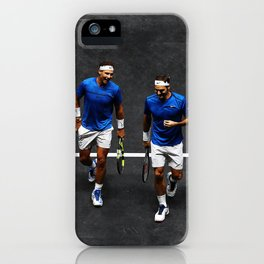 Nadal and Federer Doubles iPhone Case