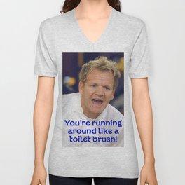 Toilet Brush? Unisex V-Neck