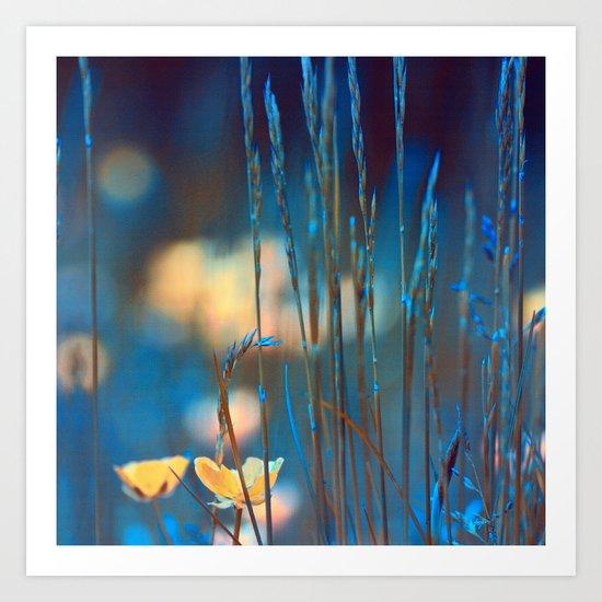 Blue dusk. Art Print