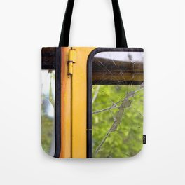 Junkyard School Bus Tote Bag