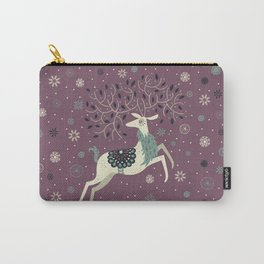 Prancing Reindeer Carry-All Pouch