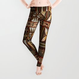 Hawaiian Shark Tooth Tapa Leggings