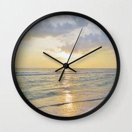 Summer Daze - Florida Sunset Wall Clock