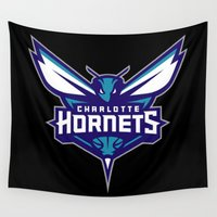 nba Wall Tapestries featuring NBA - Hornets by Katieb1013
