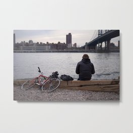 Brooklyn Bikes Metal Print