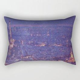Stardust over Paris Rectangular Pillow