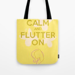 Keep Calm and Flutter On (MLP FIM) Tote Bag