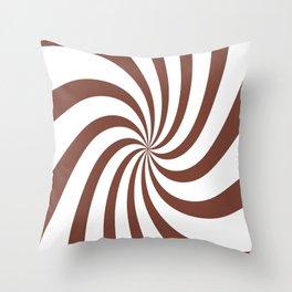 Spiral (Maroon & White Pattern) Throw Pillow