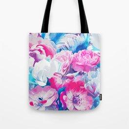 FLORAL GARDEN Peony & Magnolia Tote Bag