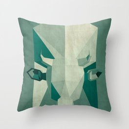 Picasso style abstract cow Throw Pillow