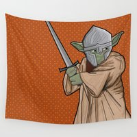 yoda Wall Tapestries featuring Yoda medieval  by  Steve Wade ( Swade)
