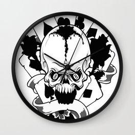 Wicked skull art, Custom gift design Wall Clock