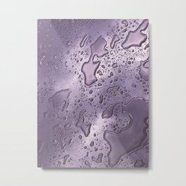 rainwater on glass gradient 0884 Metal Print
