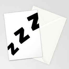 Zzzs in Black Stationery Cards