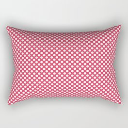 Teaberry and White Polka Dots Rectangular Pillow
