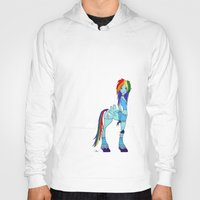 my little pony Hoodies featuring Rainbow Dash My Little Pony by Kaori