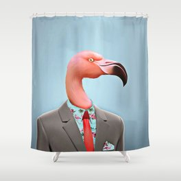 Pink Flamingo's Shower Curtain