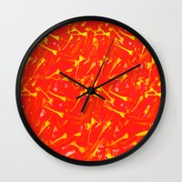 china Wall Clocks featuring China by Fernando Vieira