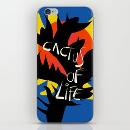 Cactus of Life Graffiti Street Abstract Art iPhone Skin
