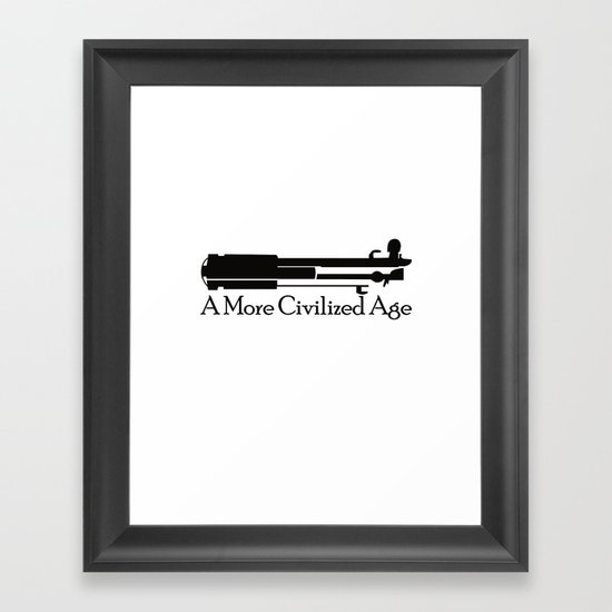 A More Civilized Age Framed Art Print