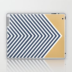 Gold & Navy Chevron Laptop & iPad Skin