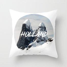 Holland Mountains Throw Pillow