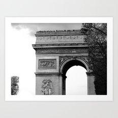 l'arc de triomphe 2 Art Print