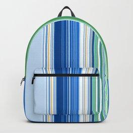 Ocean Blue Stripes Backpack