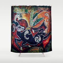 Scythian Designs Ibex & Griffin by Sheridon Rayment Shower Curtain