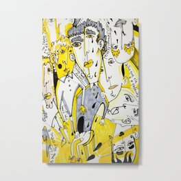 yellow people Metal Print
