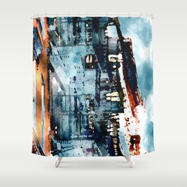 Blue Gray Day Shower Curtain