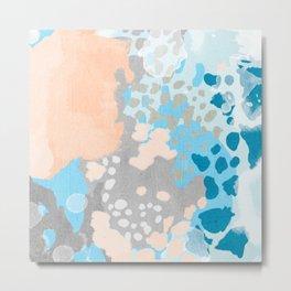 Freya - Painted minimal bright summer palette boho abstract decor minimalist Metal Print
