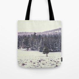 Colorado Winter Trees Tote Bag