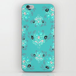 Dreamy Sky Floral Pattern iPhone Skin