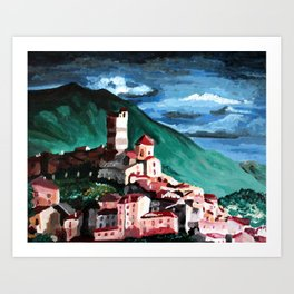 Small town in Italy Art Print